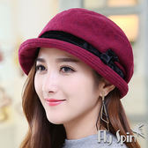 貝雷冬帽子-羊毛混紡毛呢時尚保暖南瓜貝蕾淑女冬帽14AW-S009 FLYSPIN