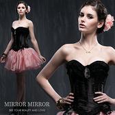 馬甲 維多利亞黑色浪漫水鑽塑身馬甲-束身、表演服_蜜桃洋房