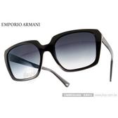 EMPORIO ARMANI 太陽眼鏡 EA4026 50178G (黑) 復古大方框 墨鏡 # 金橘眼鏡