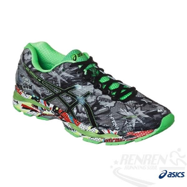 ASICS亞瑟士 男慢跑鞋 GEL-NIMBUS 18  (綠*塗鴉)  高緩衝