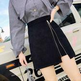 米蘭 2019春夏新款女高腰不規則半身裙a字裙黑色包臀裙ins超火的短裙子