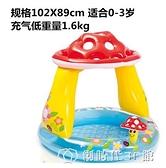 加厚游泳池釣魚池充氣海洋球池寶寶戲水池嬰兒泳池家用帶滑梯泳池充氣泳池 YJT
