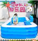 充氣泳池 兒童充氣游泳池加厚家用小孩泳池成人兒童超大型游泳桶滑滑梯水池 朵拉朵YC