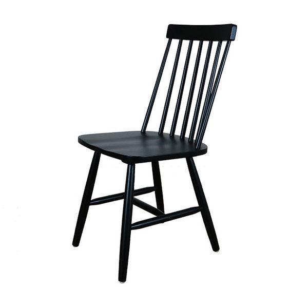 實木七線直條高背餐椅/書桌椅