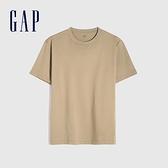 Gap男裝 純棉舒適圓領短袖T恤 706800-卡其色