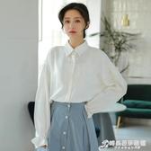 洋氣長袖白色襯衫女學生韓版寬鬆襯衣少女新款學院風秋季外穿 時尚芭莎