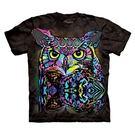 【摩達客】(預購) 美國進口The Mountain 彩繪貓頭鷹 純棉環保短袖T恤(10416045127a)