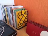 年終好禮 可伸縮鐵藝書立書靠書架書夾大號兒童擋書板辦公室桌面書檔