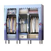 簡易衣櫃布藝布衣櫃鋼管鋼架單人衣櫥組裝雙人收納   igo 露露日記