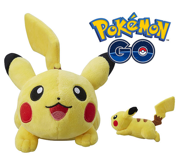 皮卡丘 趴趴 絨毛玩偶 Pokemon 寶可夢 神奇寶貝 日本正品 S號娃娃 該該貝比日本精品 ☆