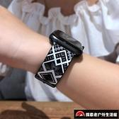 硅膠彩色印花蘋果手表錶帶iwatch表帶【探索者戶外生活館】