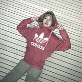 IMPACT Adidas Originals Hoodie 黑 粉 玫瑰粉 三葉草 帽T DU4427 DU4429