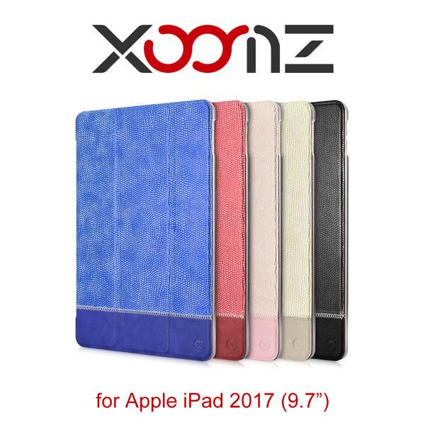 【愛瘋潮】XOOMZ 熒閃系列 iPad 2017 (9.7) 側掀磁吸 三折站立皮套