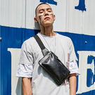 【5折超值價】經典潮流美式街頭風格百搭休閒斜背包