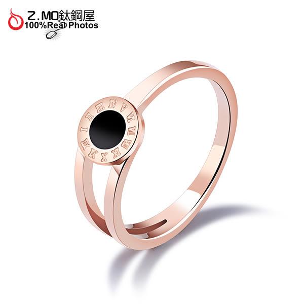 316L白鋼戒指 不生鏽 羅馬數字 鍍玫瑰金色 甜美夢幻公主風格 簡約 單只價【BKS531】Z.MO鈦鋼屋