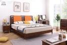 【新竹清祥傢俱】NBB-55BB04-北歐輕奢五尺床架(有含靠墊) 一般雙人 全實木 臥室 床框 日系 5*6 現代