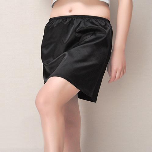 緞面A版短款半身襯裙(36cm)  [黑 白] 兩色售 11770010
