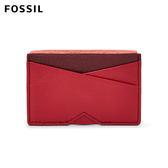 FOSSIL Gift 岩漿紅真皮名片夾