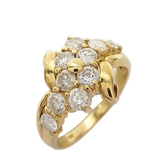 1.00ct鑽石18K金造型戒指 K18YG 【二手名牌BRAND OFF】