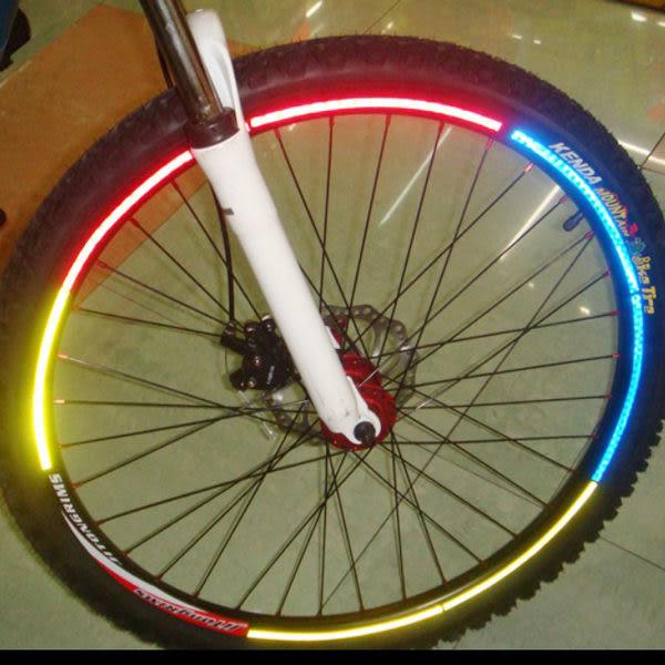【BlueCat】夜騎最安全 腳踏車自行車車輪反光條貼紙