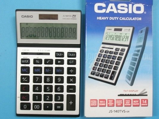 CASIO卡西歐JS-140TVS桌上商用計算機-高品質 螢幕傾斜度可調14位數/一台入{定1500}~全新有保固