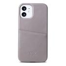 Alto iPhone 12 mini 真皮手機殼背蓋 5.4吋 Metro - 礫石灰【可加購客製雷雕】皮革保護套