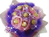娃娃屋樂園~9朵金莎(花朵.羽毛款)花束 每束550元/情人節花束/生日禮物/畢業花束/教師節花束