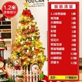 聖誕樹 120cm豪華聖誕樹 商場店鋪場景大型裝豪華飾聖誕節日裝飾品【限時八折】