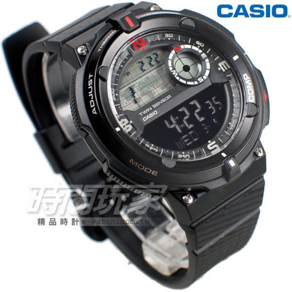 CASIO卡西歐 SGW-600H-1B 大錶面 LED照明 電子錶 SGW-600H-1BDR 男錶 中性錶 運動錶 學生錶 日期 計時碼表
