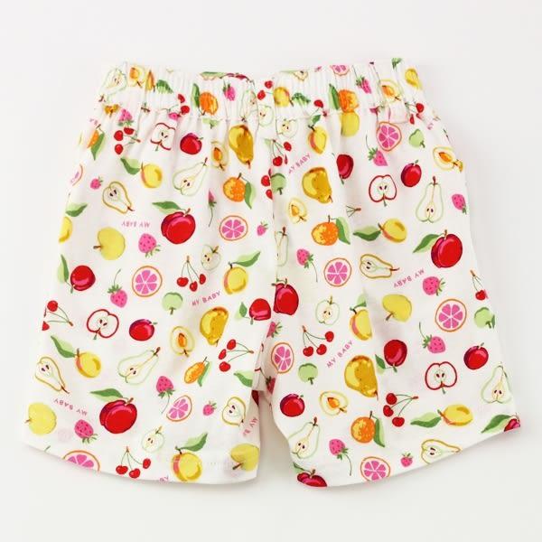 【愛的世界】純棉鬆緊帶水果百匯短褲/4-台灣製- ★春夏下著