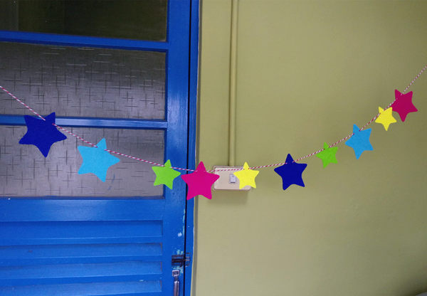 【韓風童品】小星星造型PARTY可愛掛飾 彩色掛旗 派對聚會裝飾拉花 拍攝背景裝飾 生日佈置
