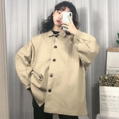 春季韓版原宿港風bf寬鬆百搭工裝ins夾克嘻哈復古外套女學生上衣