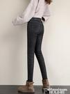 牛仔褲 鬆緊腰加絨牛仔褲女秋冬季2021年新款黑色高腰顯瘦彈力緊身鉛筆褲 非凡小鋪