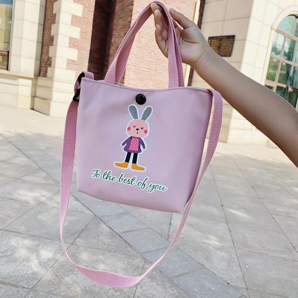 兒童斜背補課包小學生書包補習手提袋帆布袋女童裝書袋子寶寶上學
