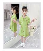 兒童裙子 女童連身裙夏裝新款兒童裝大童Polo裙夏季女孩公主裙洋氣裙子