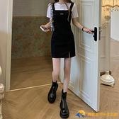 氣質裙子新款夏季女裝辣妹設計感小眾吊帶裙背帶裙短裙連衣裙【勇敢者】