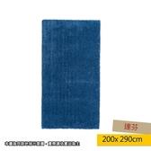 HOLA 達芬防蟎抗菌地毯 200x290cm 藍色