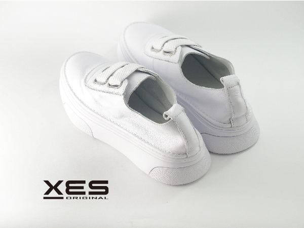 XES 綁帶造型休閒小白鞋 百搭夏季款 女款 白色