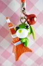 【震撼精品百貨】日本精品百貨-手機吊飾/鎖圈-茶犬系列-鐵塔(紅繩)