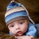 有機純綿針織帽: 藍天彩色: BD-18...