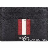 BALLY TACLIPO 經典紅白條紋黑色附錢夾/卡片夾 1820589-01