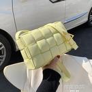 高級感包包洋氣女包2020流行新款潮時尚編織側背包百搭網紅小方包斜背包