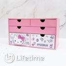 ﹝KittyPINK五抽盒﹞正版 五抽盒 收納盒 置物盒 木櫃 凱蒂貓 Kitty〖LifeTime一生流行館〗