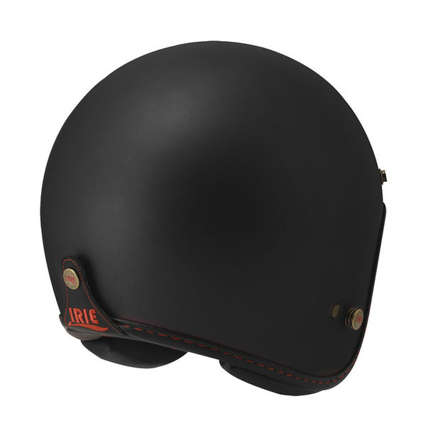 ZEUS 瑞獅安全帽,復古帽,ZS-385B,素/消光黑