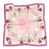 MARIO VALENTINO 結繩鎖鏈純綿帕領巾(粉紅色)989259