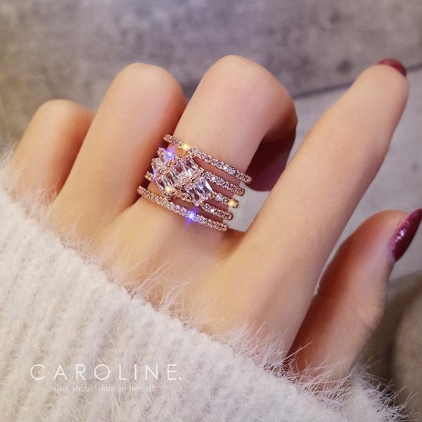 《Caroline》★韓國熱賣造型時尚  浪漫風格,優雅性感戒指71153