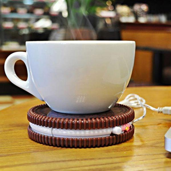 杯墊 英國Mustard USB動力餅幹造型保溫杯墊 創意白領辦公室水杯 瑪麗蓮安