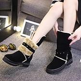 中筒雪靴-時尚保暖舒適百搭女高跟靴子2色73kg14【巴黎精品】