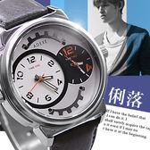 ~贈盒~ADEXE 兩地時間皮革錶帶  型男雜誌款~匠子工坊~~UK0119 ~T