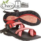Chaco EZW02_HC55火紅鮮橘 女冒險旅遊涼鞋-Z/Volv2夾腳款休閒鞋
